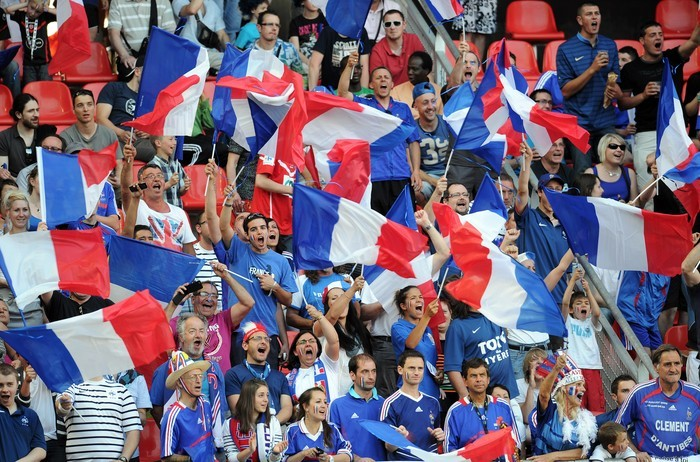 Supporters of French national football t